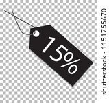 15 percent tag on transparent...