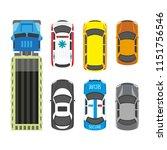 transportation means set in... | Shutterstock . vector #1151756546