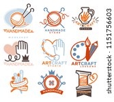 art and handmade craft logo... | Shutterstock . vector #1151756603