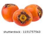 fresh persimmon isolated on... | Shutterstock . vector #1151757563