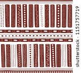vector seamless aboriginal... | Shutterstock .eps vector #1151757719