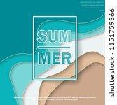 summer banner with paper cut... | Shutterstock .eps vector #1151759366