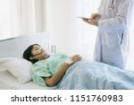 doctor is checking the patient... | Shutterstock . vector #1151760983