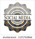 social media arabesque emblem...   Shutterstock .eps vector #1151763866