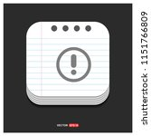 warning icon   free vector icon   Shutterstock .eps vector #1151766809