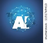 machine learning  artificial...   Shutterstock .eps vector #1151769413