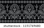 seamless black and white... | Shutterstock .eps vector #1151769680