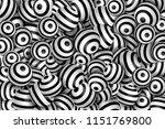 striped 3d sphere background.... | Shutterstock .eps vector #1151769800