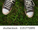 sneakers on the background of... | Shutterstock . vector #1151772890