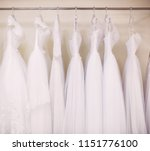 beautiful white wedding dresses ... | Shutterstock . vector #1151776100