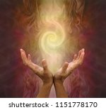 channeling golden vortex... | Shutterstock . vector #1151778170