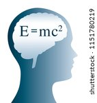 e mc2 the formula for mass... | Shutterstock .eps vector #1151780219