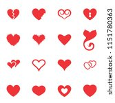 simple heart icon colection... | Shutterstock . vector #1151780363