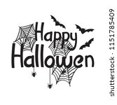happy halloween text for banner ... | Shutterstock .eps vector #1151785409