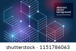vector abstract boxes... | Shutterstock .eps vector #1151786063