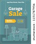 garage sale vector illustration.... | Shutterstock .eps vector #1151787956