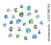 abstract people connection... | Shutterstock .eps vector #1151788763
