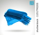 blue brush stroke and texture.... | Shutterstock .eps vector #1151790203