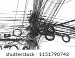 power cable is used to send... | Shutterstock . vector #1151790743