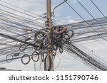 power cable is used to send... | Shutterstock . vector #1151790746