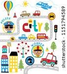 vector set of transportation...   Shutterstock .eps vector #1151794589