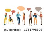 group of people on white... | Shutterstock .eps vector #1151798903