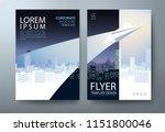 annual report brochure flyer... | Shutterstock .eps vector #1151800046