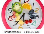 dietary food on time isolated...