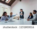 business meeting or... | Shutterstock . vector #1151803016