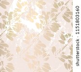 floral abstract foil gold blush ... | Shutterstock .eps vector #1151803160