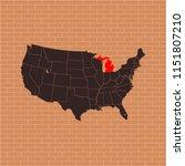 map of michigan | Shutterstock .eps vector #1151807210