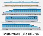 set of high speed train vector... | Shutterstock .eps vector #1151812709