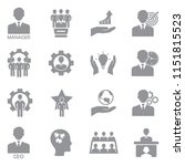 ceo and manager icons. gray... | Shutterstock .eps vector #1151815523