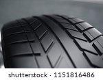 car wheel  car tire standing on ... | Shutterstock . vector #1151816486