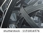 tangled roads and highways in a ... | Shutterstock . vector #1151816576