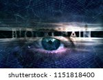 futuristic blockchain word on... | Shutterstock . vector #1151818400