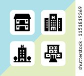 rest icon. 4 rest set with... | Shutterstock .eps vector #1151819369