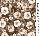 seamless pattern monochrome... | Shutterstock . vector #1151819579