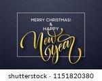 2019 new year golden hand... | Shutterstock .eps vector #1151820380