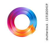 color brushstroke oil or... | Shutterstock .eps vector #1151820419