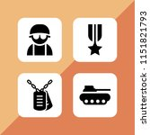force icon. 4 force set with... | Shutterstock .eps vector #1151821793
