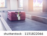 luggage at point of checking... | Shutterstock . vector #1151822066