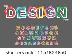 vector of modern abstract... | Shutterstock .eps vector #1151824850