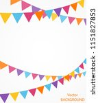 celebration background with... | Shutterstock .eps vector #1151827853