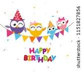 happy birthday celebration with ... | Shutterstock .eps vector #1151827856