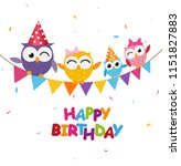 happy birthday celebration with ... | Shutterstock . vector #1151827883