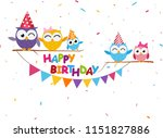 happy birthday celebration with ... | Shutterstock . vector #1151827886