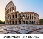Colosseum In Rome At The...