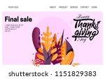 hand drawn happy thanksgiving... | Shutterstock .eps vector #1151829383