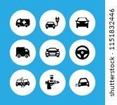 9 traffic icons in vector set.... | Shutterstock .eps vector #1151832446
